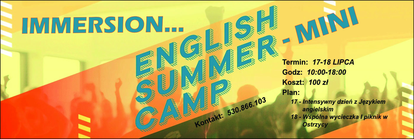 Immersion English Mini Camp 2020